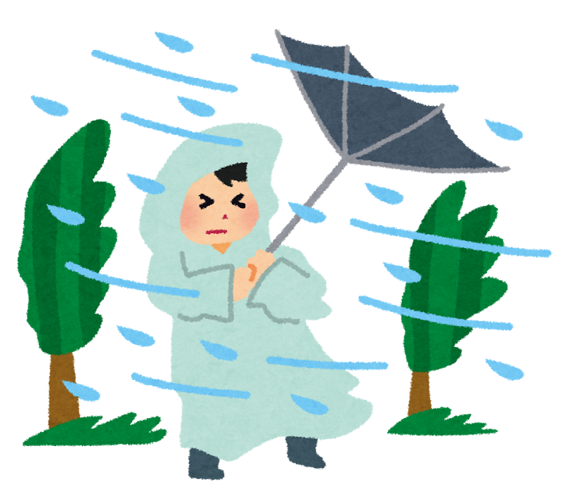 台風の準備と対策!窓やカーポートは要注意!