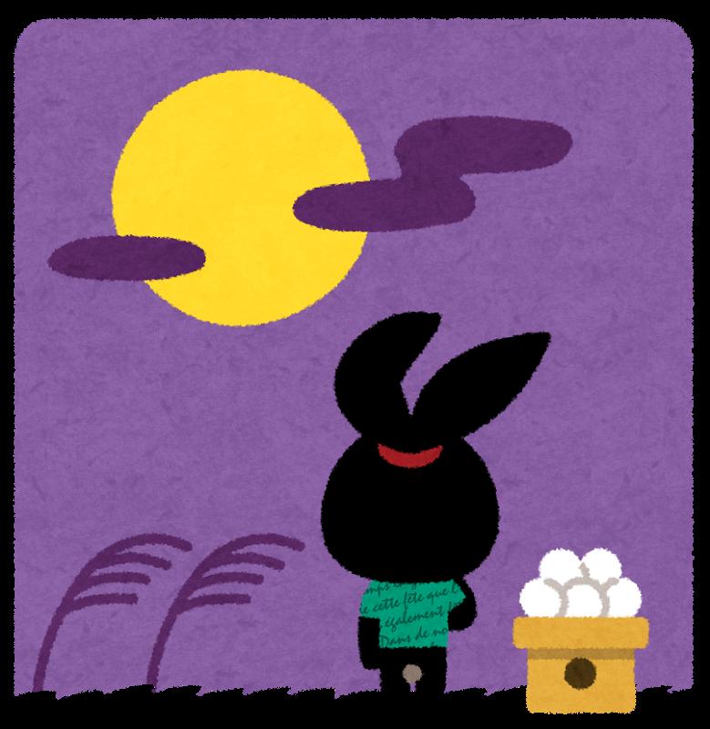 十五夜に月見をするのは何故?満月ではないの?うさぎの由来は?